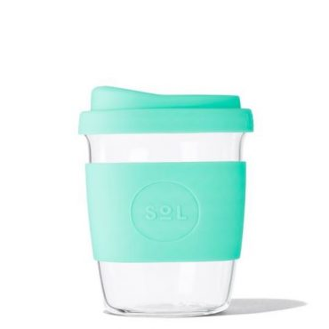 Sol Re-usable Glass Cup Mighty Mint 8oz