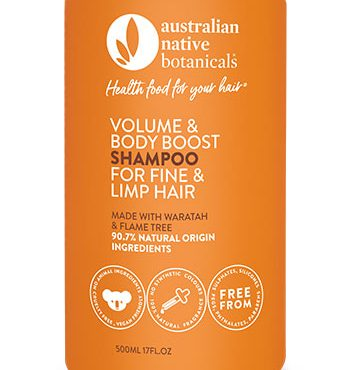 ustralian Native Botanicals Volume & Body Boost Shampoo for Fine & Limp Hair