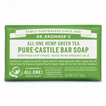 Dr. Bronner's Pure-Castile Bar Soap - Green Tea