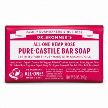 Dr. Bronner's Pure-Castile Bar Soap - Rose