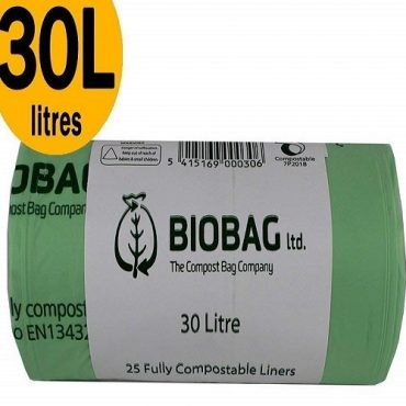 BioBag Compostable Bin Liners 8 Litre Roll (75 Bags)