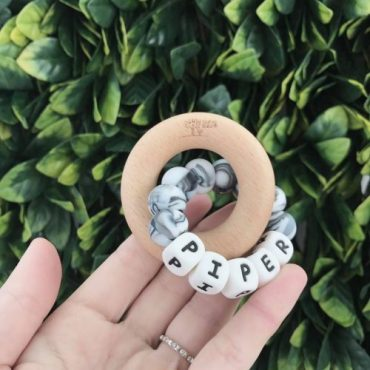 NATURE BUBZ PERSONALISED TEETHER single ring