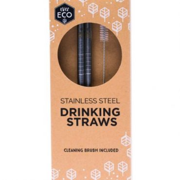 Ever Eco Stainless Steel Drinking Straws