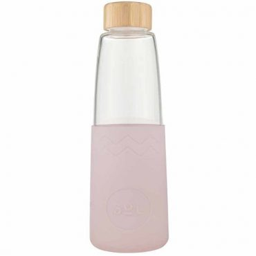 SoL Re-usable glass Bottle perfect Pink