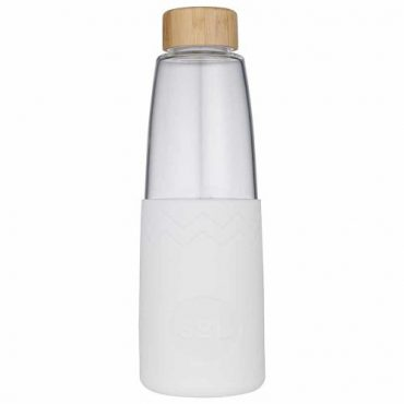 SoL Re-usable glass Bottle White Wave