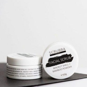scrubba Walnut & Bamboo Facial Scrub