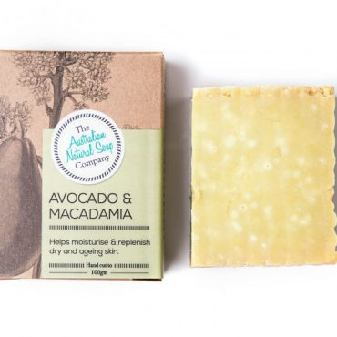 The ANSC Solid Soap Avocado & Macadamia