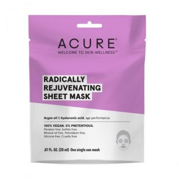 Acure Radically Rejuvenating Sheet Mask 20ml