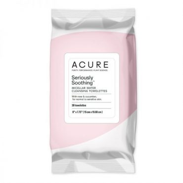 Acure Seriously Soothing Micellar Water Towlettes (30 Per Pack)