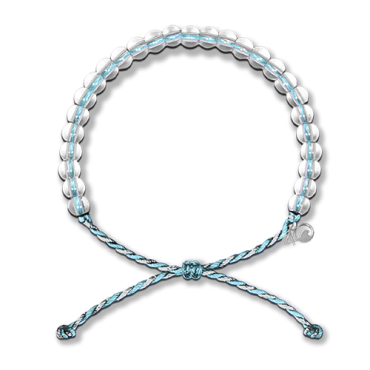 4ocean Bracelet - Dolphin Light Blue & White