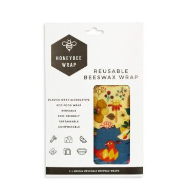 Honeybee medium Bees Wax Wrap - twin pack