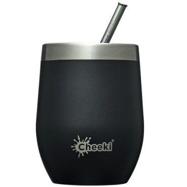 Cheeki Insulated Wine Tumbler 320ml - Rich Black