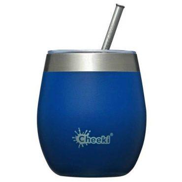 Cheeki Insulated Wine Tumbler 220ml - Sapphire Blue
