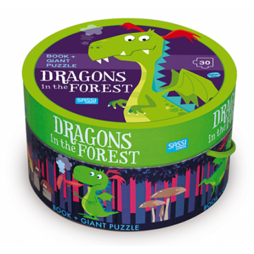 Sassi Book & Giant Puzzle - Dragon in the Forest 30 pieces