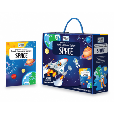 Sassi Travel, Learn and Explore - Space Puzzle & Book Set, 205 pieces