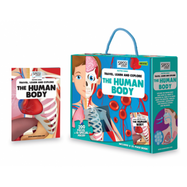 Sassi Travel Learn and Explore The Human Body Puzzle & Book Set