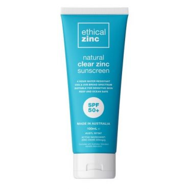 Ethical Zinc - Natural Clear Zinc Sunscreen