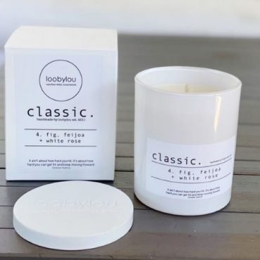 CLASSIC No.4 candle ~ fig, feijoa + white rose