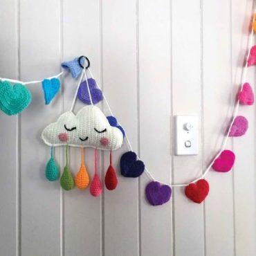 Rainbow Heart Crochet Bunting