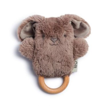 Byron Bunny Wooden Teether & Baby Rattle