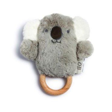 Kelly Koala Wooden Teether & Baby Rattle